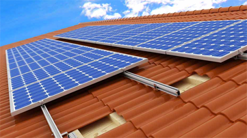 Delightful Pitched Roof Mounted Solar Array